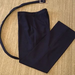 Laundry by Shelli Segal navy blue pants with belt
